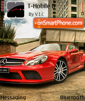 Red Mercedes 01 theme screenshot