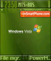 Vista Green tema screenshot
