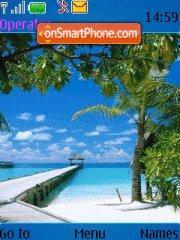 Summer beach theme screenshot