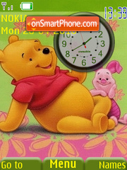 Pooh n Piglet Clock theme screenshot