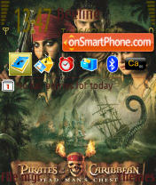 Скриншот темы Pirates Of The Caribbean 2