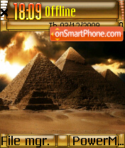 The Pyramids theme screenshot