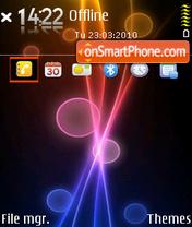 Fire bubble theme screenshot