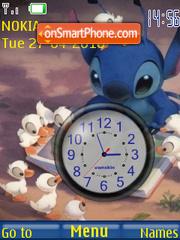 Скриншот темы Lilo n Stitch Clock