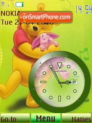 Pooh Clock2 tema screenshot