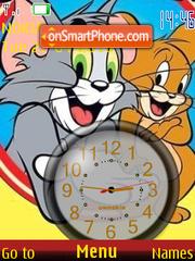 Скриншот темы Tom n Jerry Clock