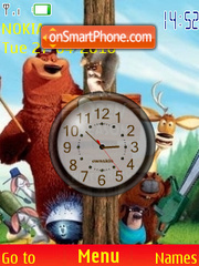Open Season Clock theme screenshot