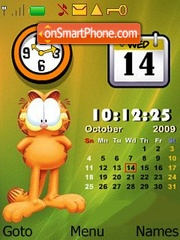 Garfield clock calender theme screenshot