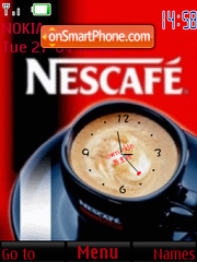 Nescafe clock theme screenshot