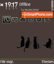 Black Cats tema screenshot