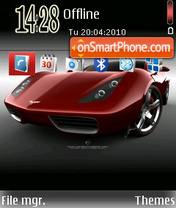 Chevrolet Corvette theme screenshot