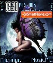 Moon Fairy tema screenshot