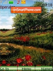 Field of poppies theme screenshot