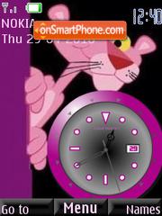 Capture d'écran Pink Panther Clock thème