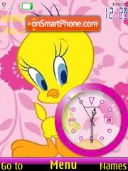 Скриншот темы Tweety Clock