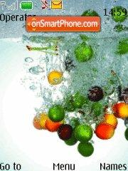 Fruits in water theme screenshot