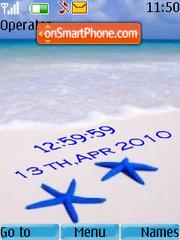 Playa clock tema screenshot