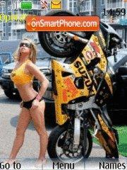 Скриншот темы Suzuki Bike