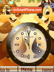 Chip n Dale Clock tema screenshot