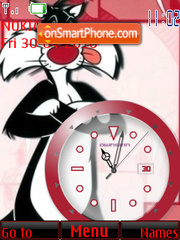 Скриншот темы Silvester Clock