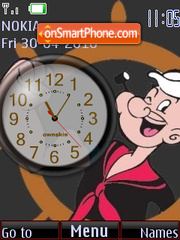Popeye Clock theme screenshot