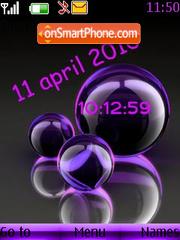 Burbujas clock theme screenshot