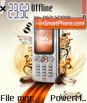 Sony Ericson 01 theme screenshot