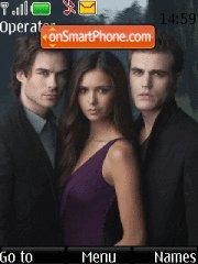 The Vampire Diaries love sucks theme screenshot