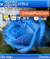 Скриншот темы Blue rose 02