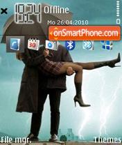Love in the rain theme screenshot
