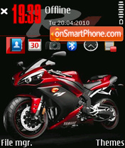 Yamaha R1 2010 theme screenshot