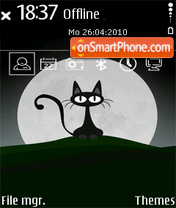 Black Cat 06 theme screenshot