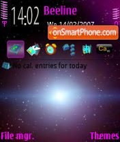 Galaxy theme screenshot