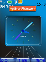 Blue Analouge Clock theme screenshot