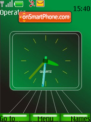 Green Analouge Clock theme screenshot