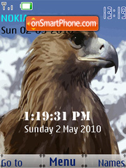 Hawk SWF Clock theme screenshot