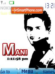Скриншот темы Mani Usman SWF Clock