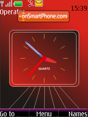 Red Analouge Clock theme screenshot