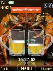 Beer with crabs theme screenshot