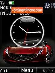 Cars clock slide Theme-Screenshot