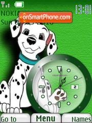 101 Dalmatians Clock theme screenshot