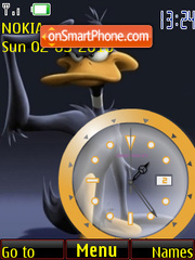 Daffy Clock tema screenshot