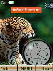 Скриншот темы Leopard Clock