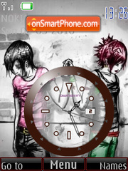 Separation Clock theme screenshot