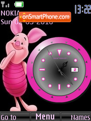 Piglet Clock theme screenshot