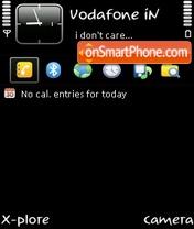 Just black by ishaque theme screenshot