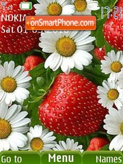 Berries and flowers tema screenshot