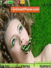 Girl&butterfly theme screenshot