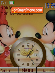 M n M Clock theme screenshot