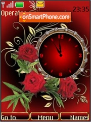 Rosas reloj analogo theme screenshot